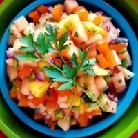 fresh mango-cantaloupe salsa