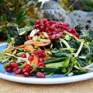 Crunchy Kale Pomegranate Salad