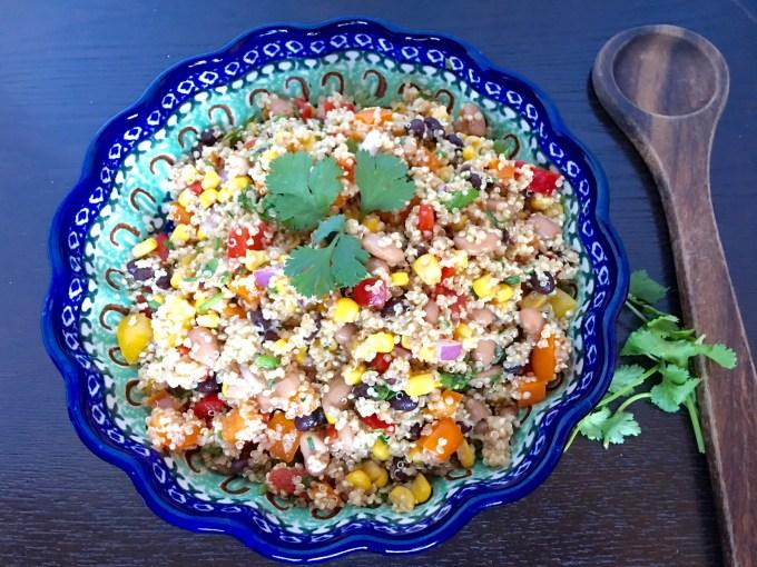 quinoa, bell peppers, corn, salad, recipe
