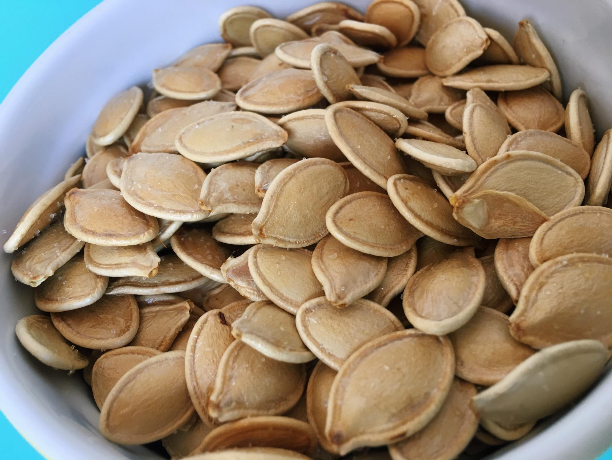 pumpkin seeds, fall, Halloween, snacks