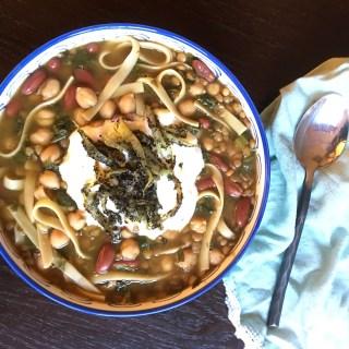 Persian Soup (Asheh Reshteh) Vegetarian Detox Noodle Soup
