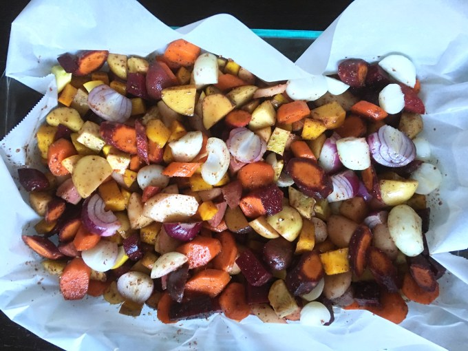 vegetables, root veggies, fall harvest, side dish, Thanksgiving, vegetarian