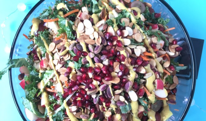 Chopped Kale Salad with Dijon Dressing
