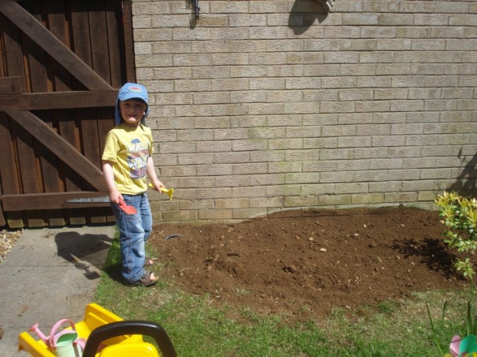 Like a Monkey in Sand! thanks to our new sand pit