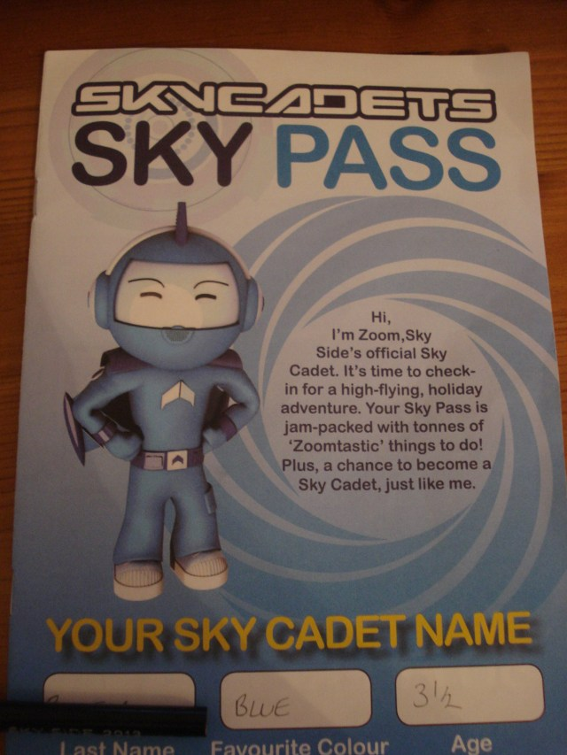 Sky Cadets, Sky Pass, Sky Side, Birmingham Airport, Over 40 and a Mum to One