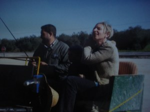 A horse and buggy ride on way to Carmona