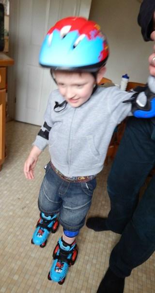 Monkey gets his skates on