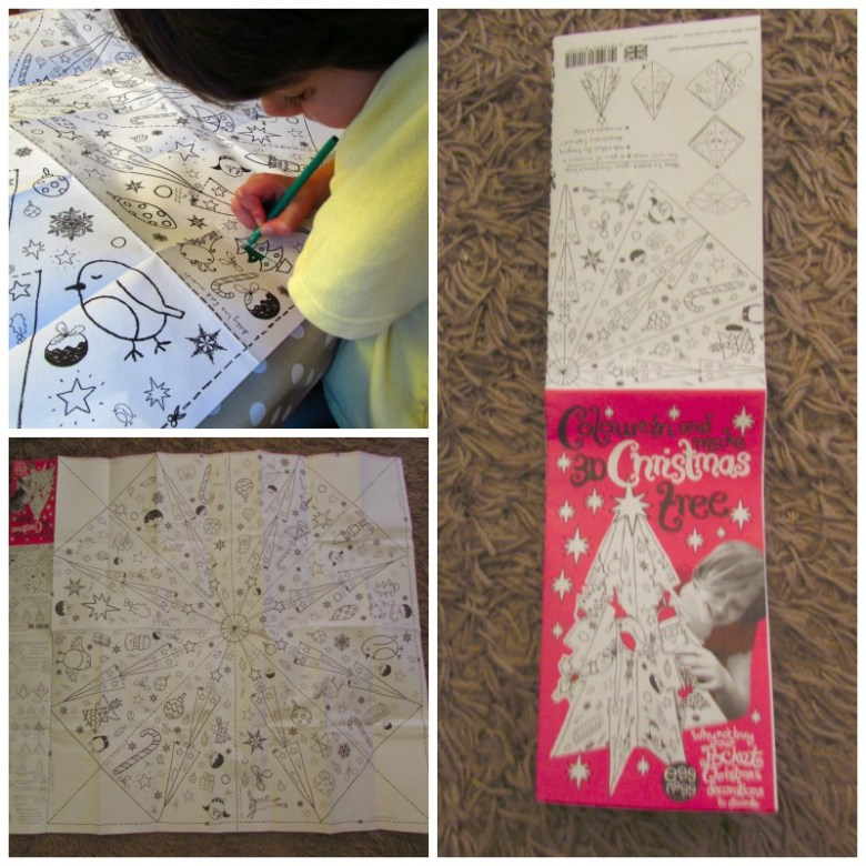 colouring in Christmas with Egg Nogg