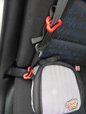 ubbleBum, the cost-effective, portable, lightweight, brightly coloured, inflatable car booster seat for children aged between 4-11 easily deflates and folds flat so that kids or mum and dad can carry it in rucksacks or handbags, making it perfect for holidays, rental cars, taxis, coach journeys, school trips or car pooling.