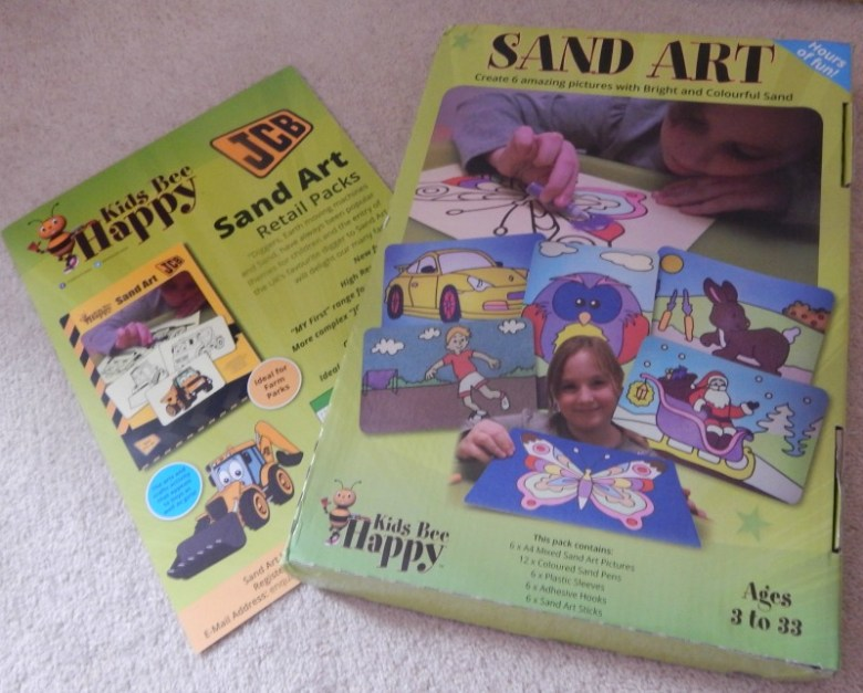 Sand Art fun with Kids Bee Happy