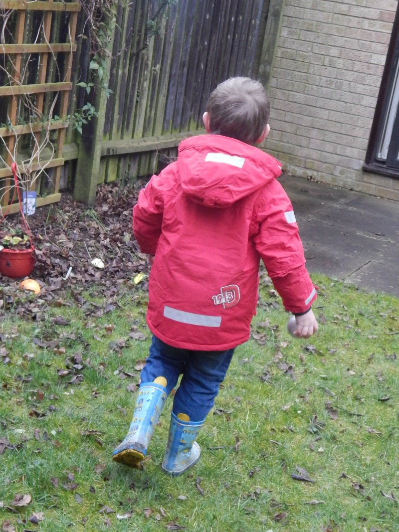 fun in the garden on a winters day