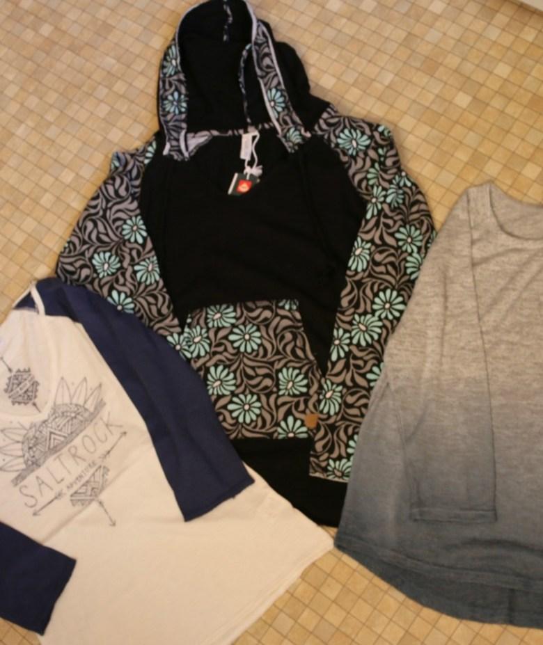 Having adventures in Saltrock clothing