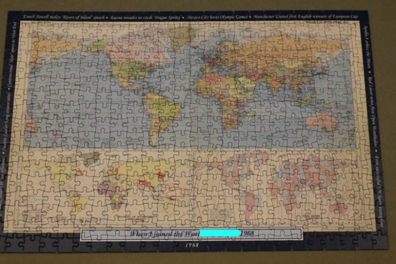 Personalised World Map Jigsaw