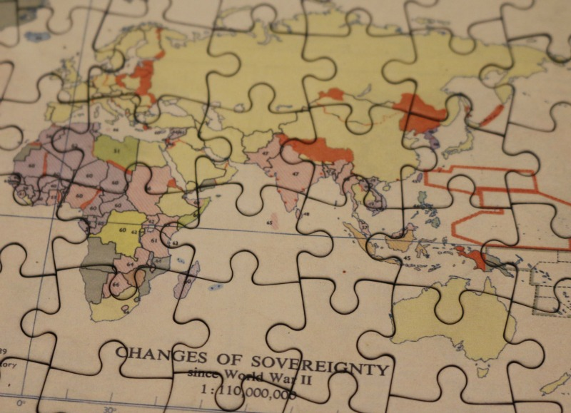 Personalised World Map Jigsaw