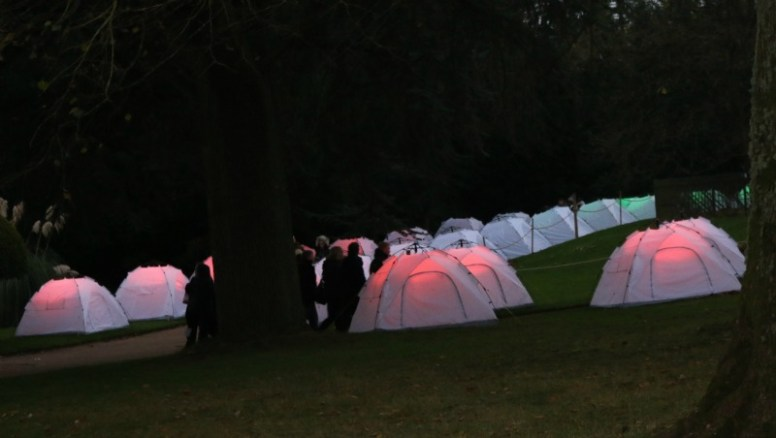 Waddesdon Manor at twilight