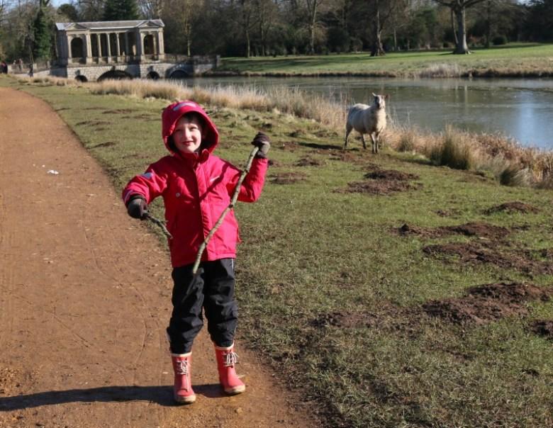 Animal tracks trail at Stowe Landscape Gardens
