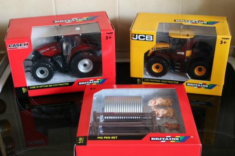Britains Tractors and Pig Pen Set