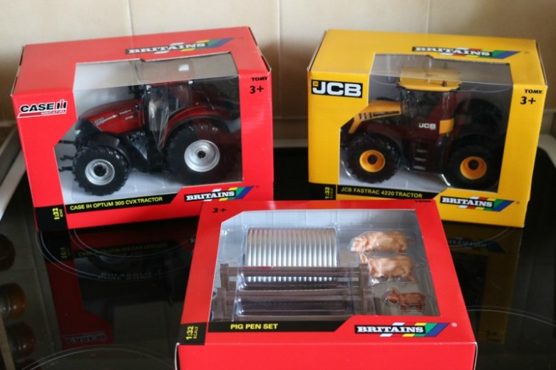 Britains Tractors and Pig Pen Set