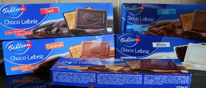 Bahlsen Pick Up! and Choco Leibniz biscuits
