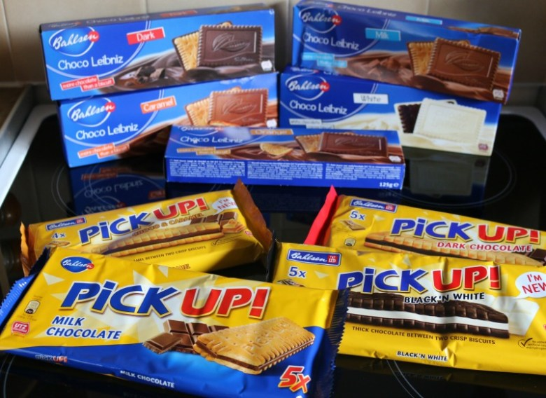 Bahlsen Pick Up and Choco Leibniz biscuits