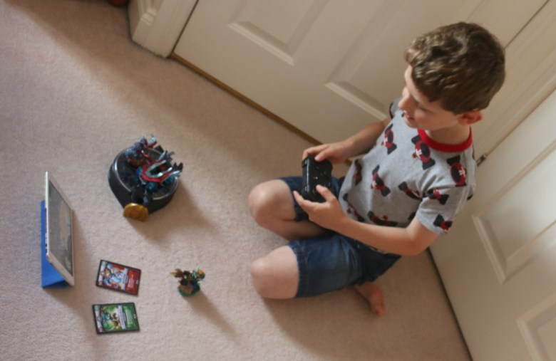 Learning how to play Skylanders SuperChargers with a 6 year old