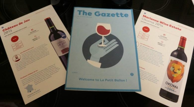 Le Petit Ballon wine subscription service