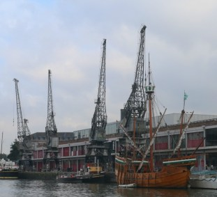 Exploring Bristol Floating Harbour aboard Mayflower