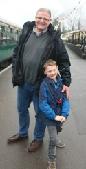 Enjoying a birthday with the Kent and East Sussex Railway
