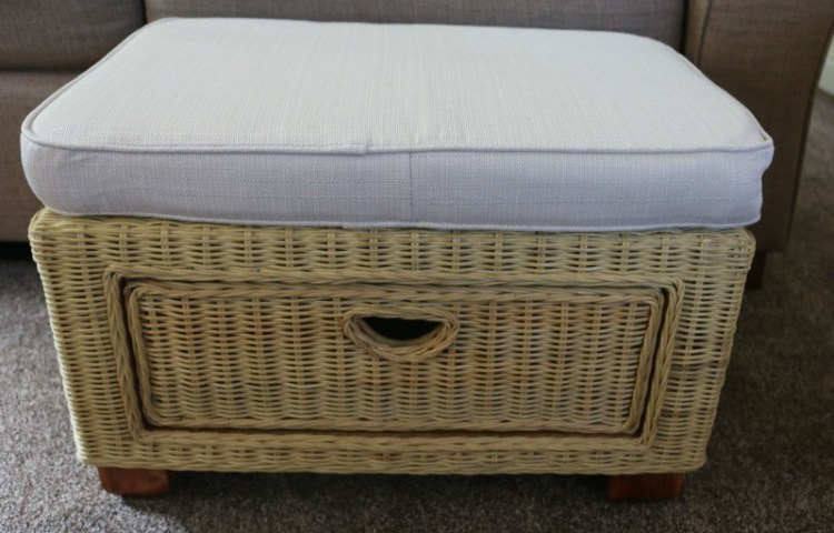 Chelsea Wicker Footstool from Rattan Direct