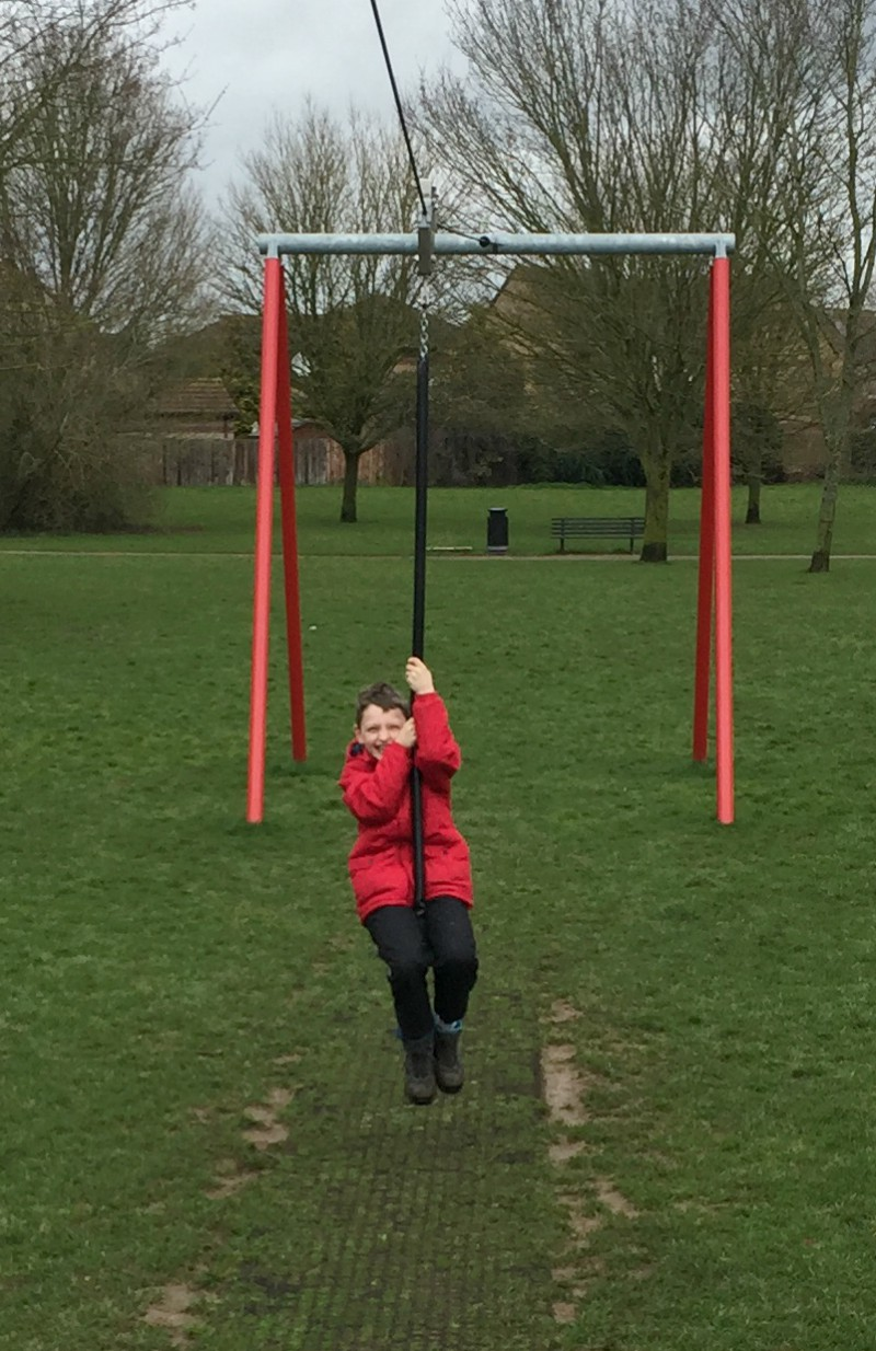 Conquering the zip wire - Living Arrows