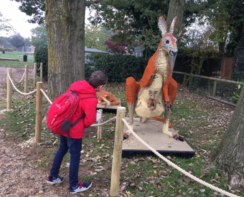 Exploring the Great Brick Safari at Twycross Zoo