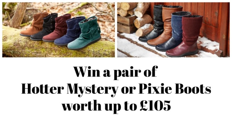 Win a pair of Hotter Mystery or Pixie Boots worth up to £105