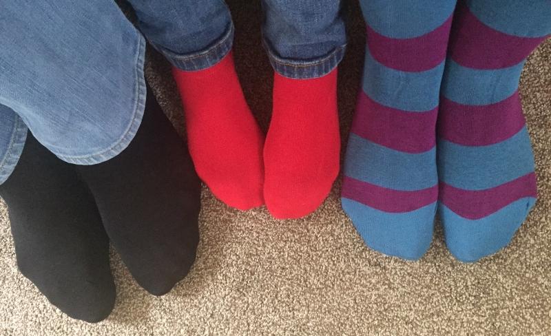 Ladies 3 Pair SockShop Just For Fun Butterfly Cotton Socks