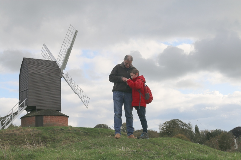 Running free around Brill Windmill