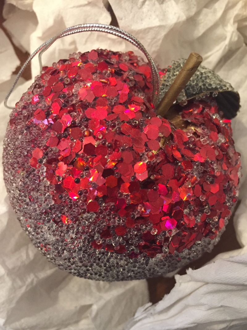 Red Apple glitter bauble