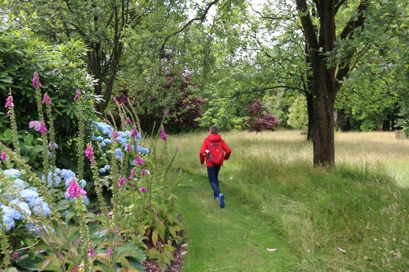 Running at Stourhead