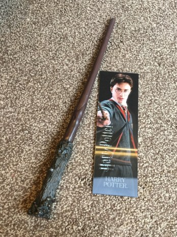 Harry Potter wand and bookmark