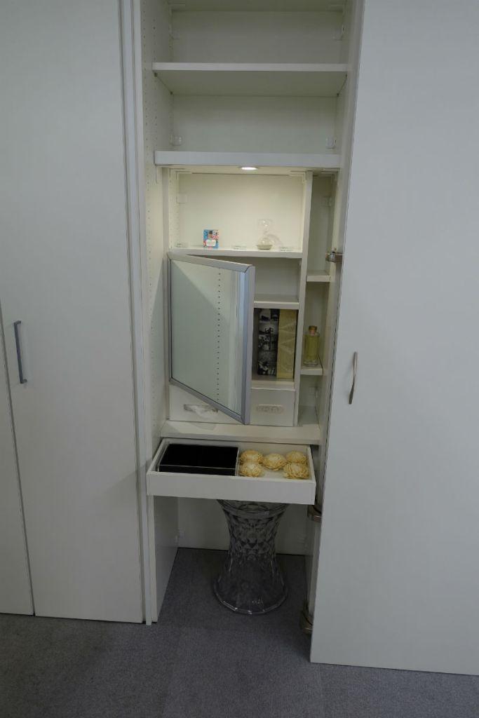 ip20 目白ショールーム 鏡台とメイクスペース