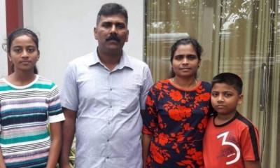 Ramesh Raju e família