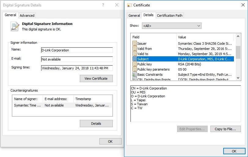 Tela 2 do malware da D-Link  Malware rouba certificados digitais da D-Link tela 2