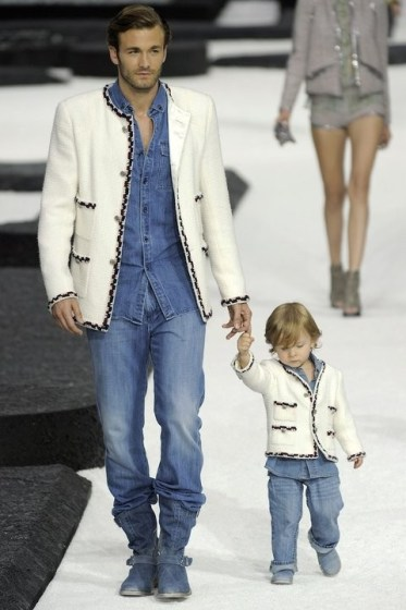 Brad and Hudson Kroenig at Chanel, 2010