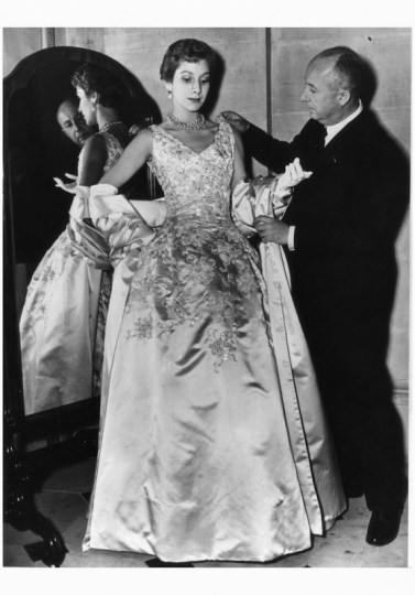 christian-dior-dior-arranging-one-of-his-a-satin-evening-gown-called-blenheim-marie-thc3a9rc3a8se-walter-lucie-daouphars