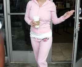 Britney Spears pops to her local Starbucks in Malibu in a fetching pink 'Juicy' tracksuit.<P>Picture by: Ginsburg/Spaly <br><B>Ref: BSLA 220305 B <B /><P><B>Splash News and Pictures</B><br>Los Angeles:310-821-2666<br>New York:212-619-2666<br>London:207-107-2666<br>photodesk@splashnews.com<br>www.splashnews.com