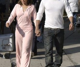 Jennifer Lopez and Ben Affleck on the set of her new music video in Los Angeles.
