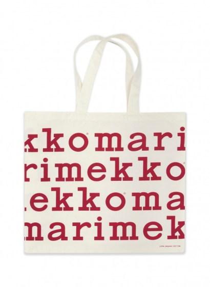 Marimekko 限定紅色LOGO購物袋