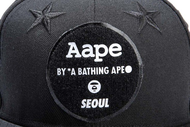 Aape x New Era Embroidered Patch Baseball Cap_HK$599_1 (7)