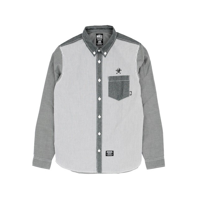 NHIZ OXFORD PATCH SHIRT $999 (front)