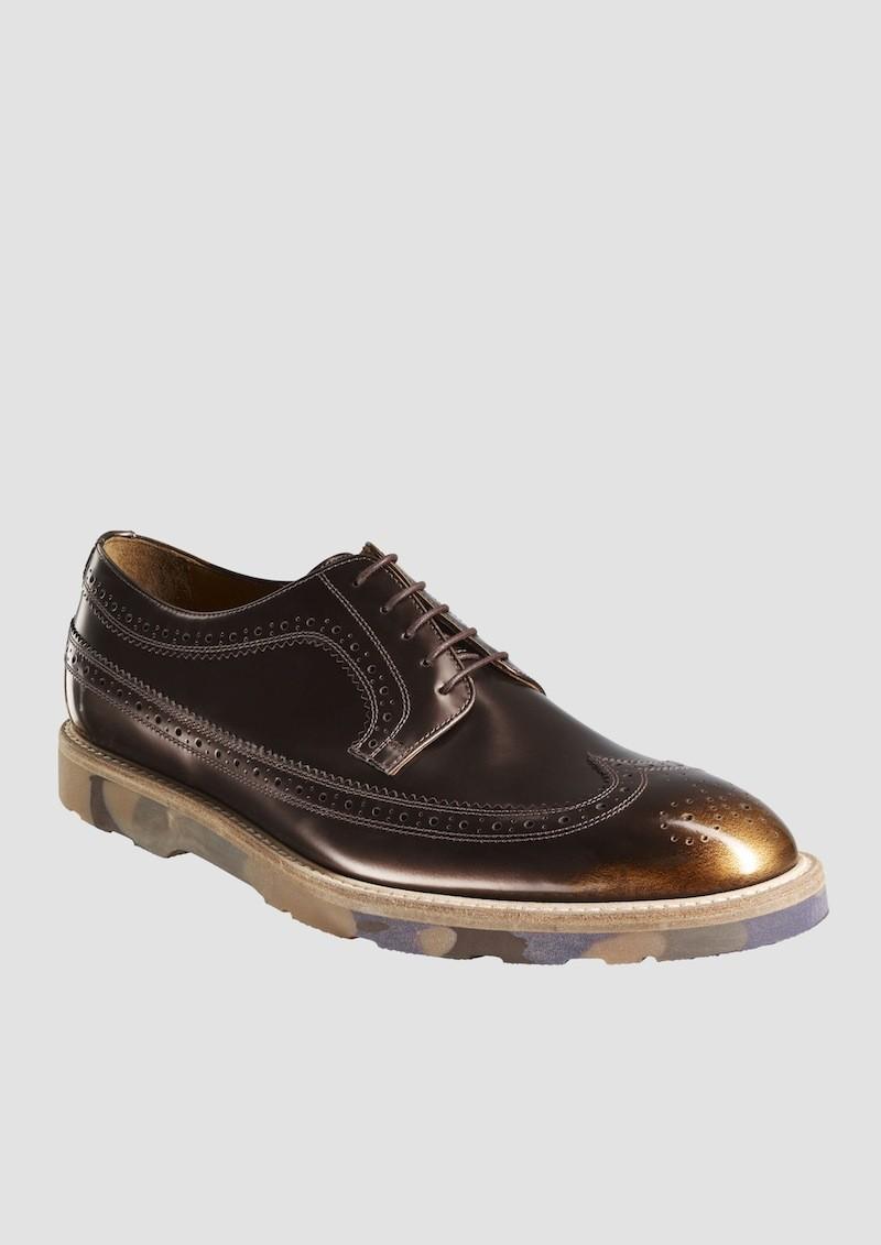 Paul Smith AW13 男仕金色暈染雕花牛津皮鞋 $19,800