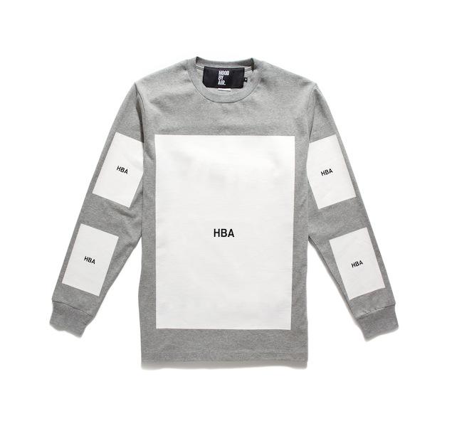 Yohood x HBA Block LS Grey Tee (Front)