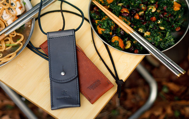 snow-peak-x-tanner-goods-carry-on-chopsticks-with-a-horween-chromexcel-case-1